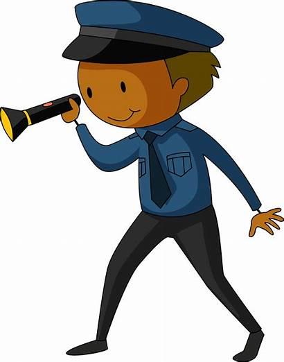 Security Guard Clipart Police Flashlight Transparent Clip