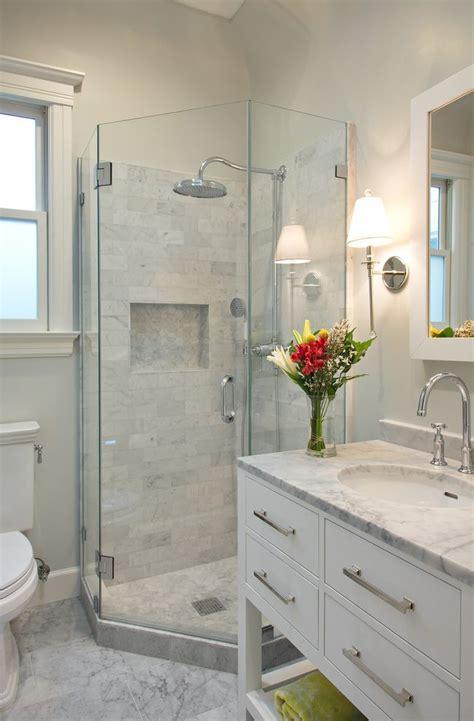 san francisco neo angle shower bathroom transitional