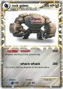 Pokémon rock golem 6 6 - smash - My Pokemon Card