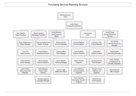 company structure org chart  company structure org