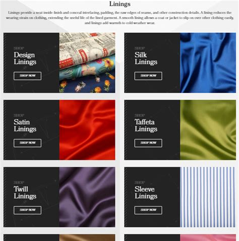 The Lining Company's New Web Design Silkstream