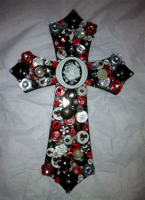 painted  decorated wooden cross wooden crosses
