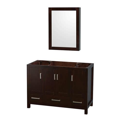 wyndham collection wcs141448sescxsxxmed sheffield 48 inch single bathroom vanity in espresso no
