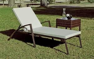 Bain De Soleil En Resine : bain de soleil h v a denia r sine tress e marron coussin blanc meubles de jardin ~ Teatrodelosmanantiales.com Idées de Décoration