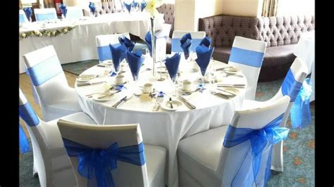inspirations royal blue and silver wedding decorations with royal blue and silver wedding decor