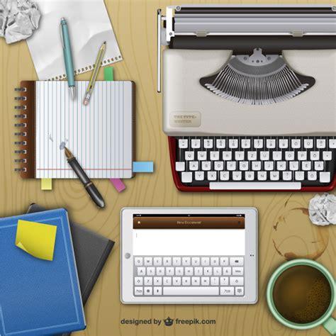 bureau d ecrivain bureau de l 39 écrivain réaliste télécharger des vecteurs
