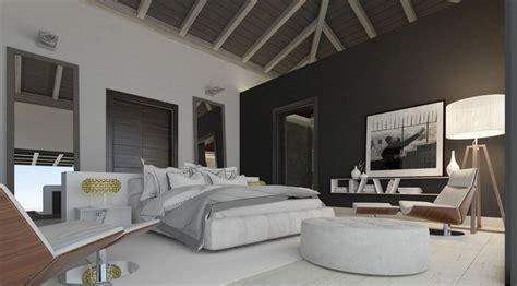 chambre luxueuse luxueuse villa par ark architects san roque espagne