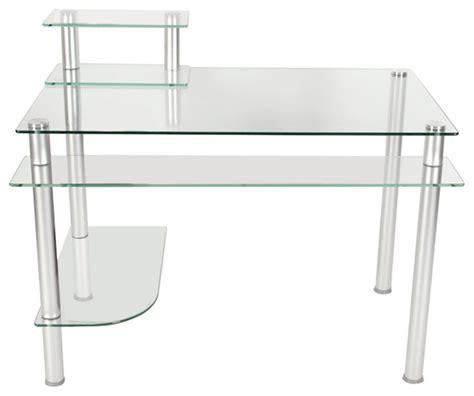 techni mobili computer desk graphite rta 3803 techni mobili graphite frosted glass l shaped computer
