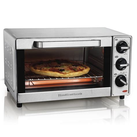 Kitchen Living Toaster Oven by Hamilton 4 Slice Toaster Oven Reviews Wayfair
