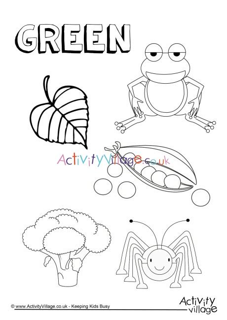 green  colouring page