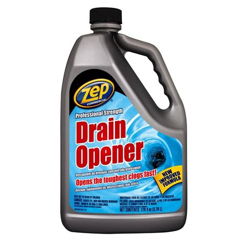 drain cleaning shop zep commercial professional strength 128 oz drain cleaner pour bottle at lowes com