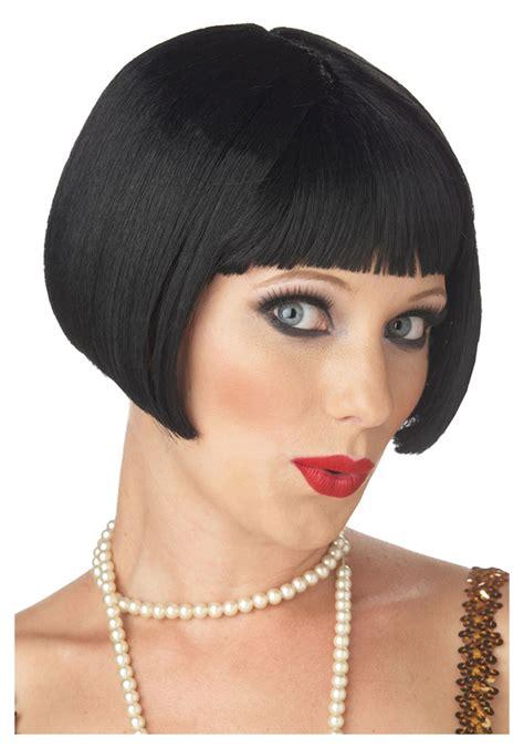 black flapper bob wig 1920s flapper costume wigs