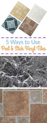 5 ways to use peel and stick vinyl tiles flooringinc
