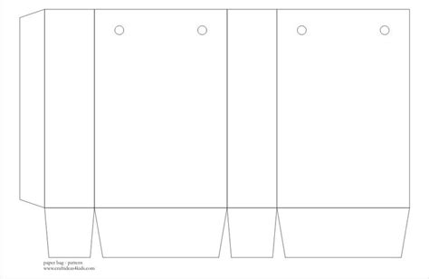 paperbag template craft templates printable paper bag pattern crafts ideas for templates