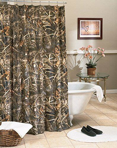 realtree max  camo shower curtain cabin camouflage rustic hunting bathroom ebay