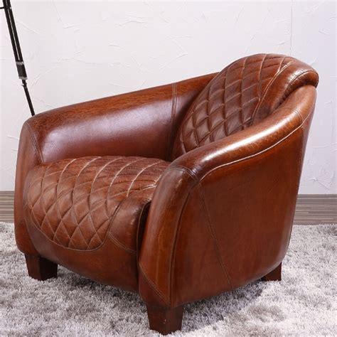 monoplace assembl 233 antique tan en cuir fauteuil chaises d