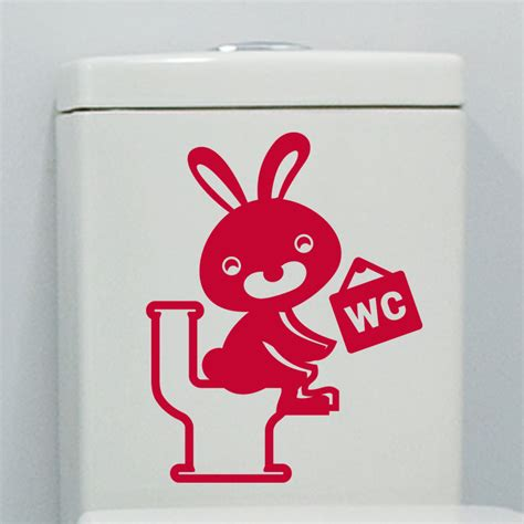 sticker toilettes lapin rieur stickers toilettes porte ambiance sticker
