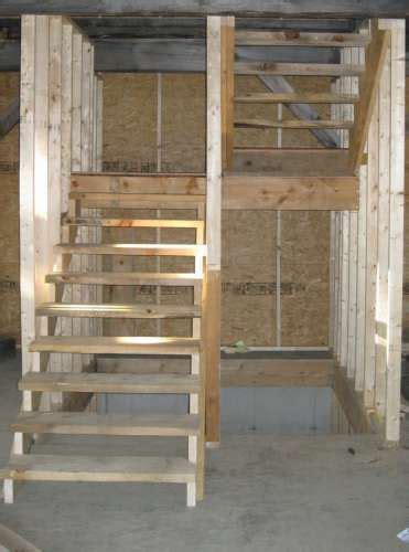 shaped stair layout  storage closet  basement stairs stair layout