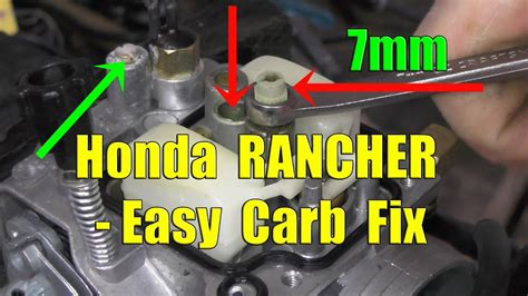 Honda Rancher Fourtrax Carburetor Removal Cleaning