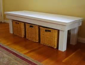 indoor storage bench diy woodworking projects plans
