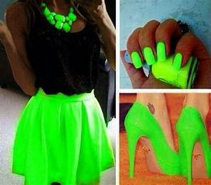 Neon green outfits Green outfits and Neon green on Pinterest