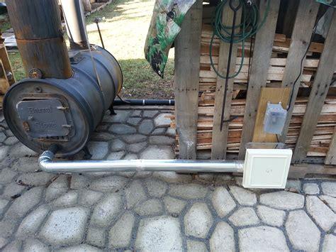diy barrel stove outdoor furnace air induction diy