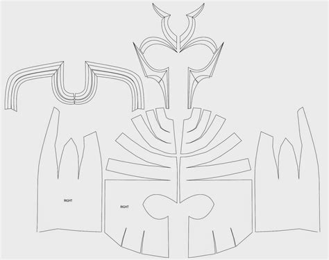 cardboard armor template dali lomo magneto costume helmet diy cardboard with template