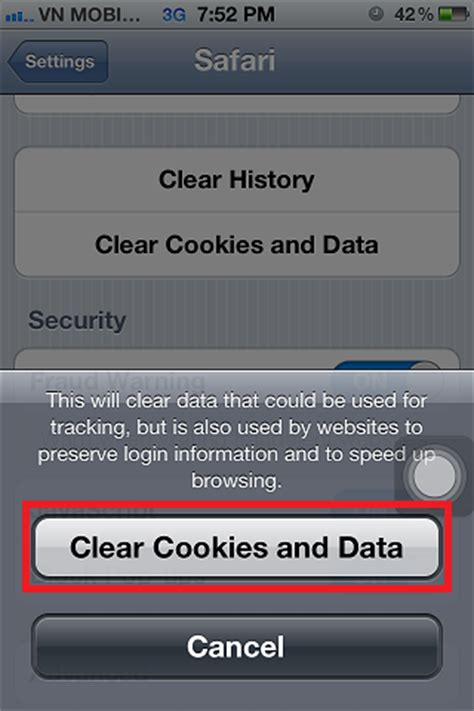 how to turn on cookies on iphone clear web history cookies and websites data in safari