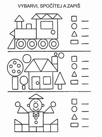 Kindergarten Math Shapes Worksheets Tvary Teaching Activities