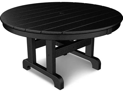 plastic patio table polywood 174 traditional recycled plastic 36 chat table
