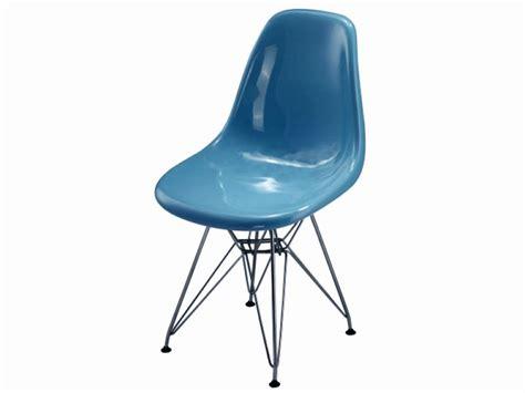 chaise eames bleu chaise dsr bleu brillant