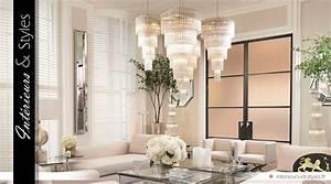 Grand Lustre Design : grand lustre design nickel avec cascade de pampilles 107 ~ Melissatoandfro.com Idées de Décoration