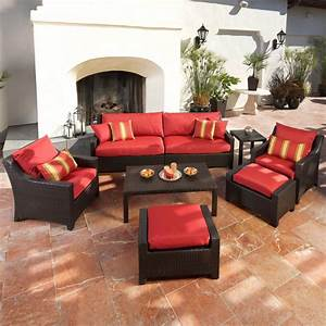 cantina 7 piece sofa seating set with chairs ottomans With couch and coffee table set