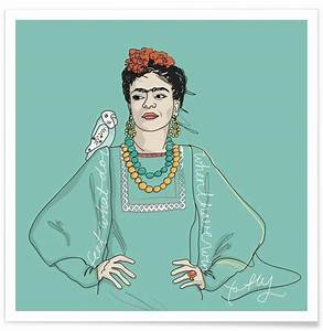 Frida Kahlo Kissen : frida kahlo als premium poster von christina heitmann juniqe ~ One.caynefoto.club Haus und Dekorationen