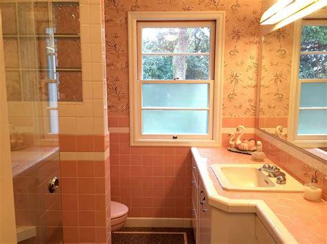 nanette jims mamie pink bathroom built  scratch