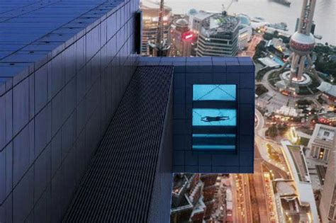 pool mit glasboden neuer 246 ffnung shanghai inn glasboden pool mit gigantischem blick auf die stadt asien