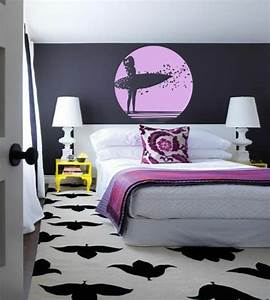 idee deco chambre ado fille sticker surf ideeco With decoration chambre ado fille