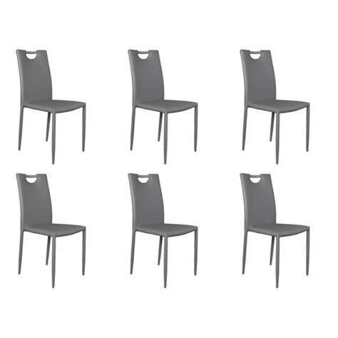lot de 6 chaises grises lot 6 chaises grises achat vente chaise salle a