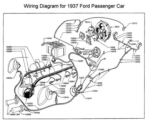 1950 Shoebox Ford Headlight Switch Wiring Diagram by 1937 Ford Passenger Car Wiring Diagram All About Wiring