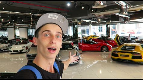 epic luxury car showroom youtube