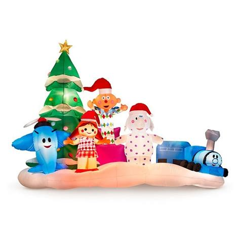 rudolphs island  misfit toys christmas airblown inflatable