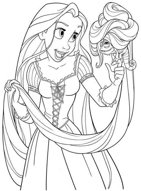 Coloring Rapunzel by Rapunzel Coloring Pages To And Print For Free