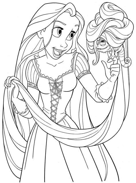 rapunzel coloring pages    print