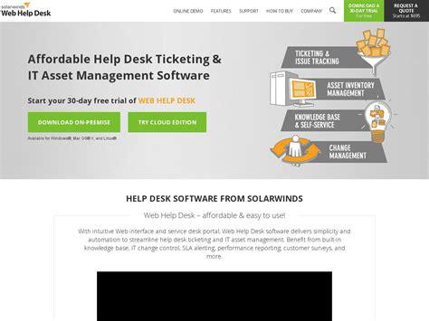 Solarwinds Web Help Desk by Solarwinds Web Help Desk Review By Inspector Jones