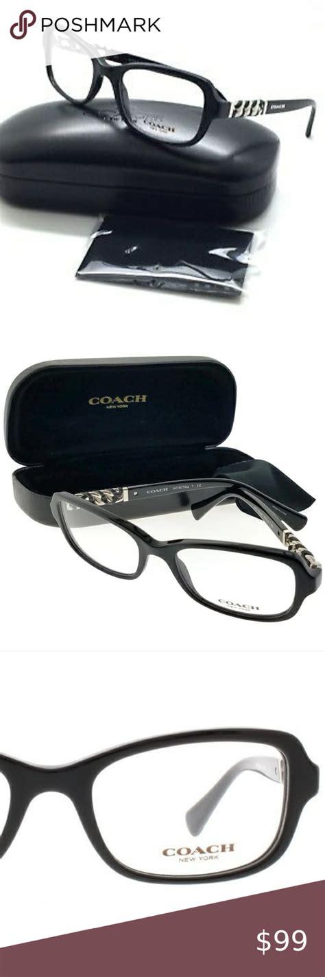 New COACH Frames Black Acetate HC6075Q 5002 Womens 100%