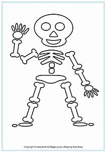 Skeleton Colouring Page
