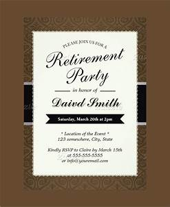 sample invitation template download premium and free With retirement luncheon invitation template