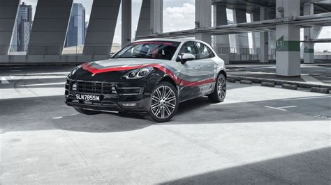 porsche singapore porsche macan turbo gets special race livery in singapore