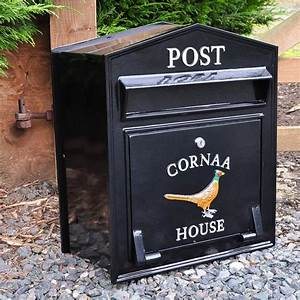 Regency Wall Mounted Post Box Personalised Post Boxes