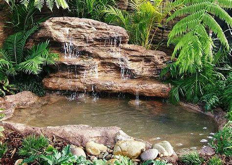 outdoor water ponds and falls large backyard landscape pond waterfall kits fake rocks